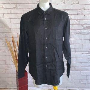 John Varvatos Men's Button Down Linen Shirt